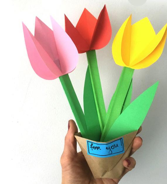 Бумажные тюльпаны 5