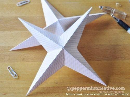 Бумажные звёздочки