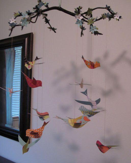 Мобили с птичками