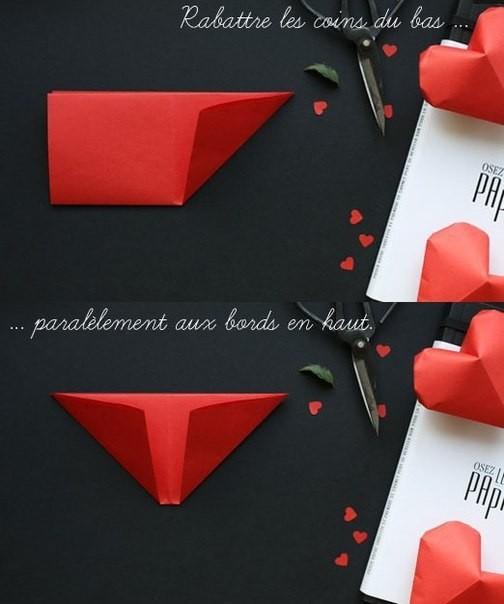 Объемное сердце из бумаги 4