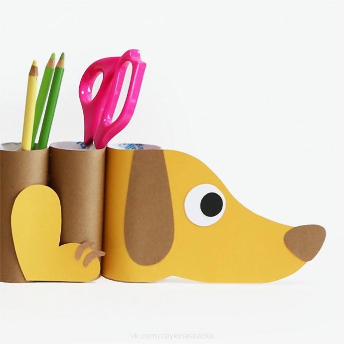 Собачка-органайзер для ручек и карандашей