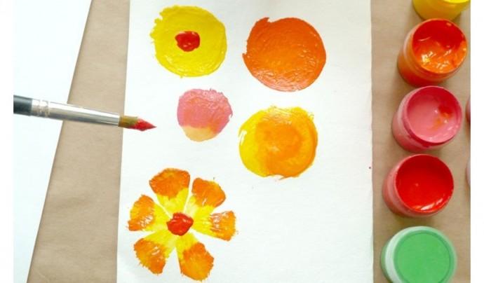 Учимся с детьми рисовать цветы