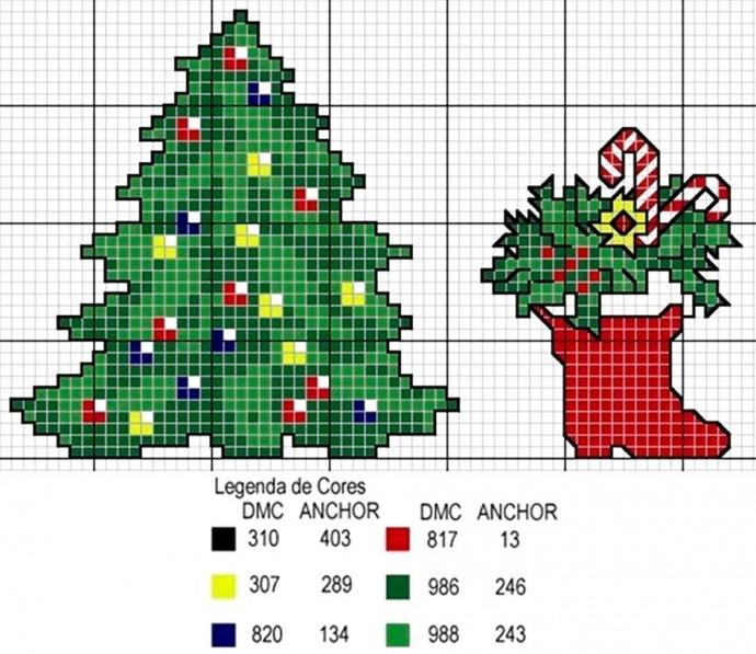 Вышиваем новогоднюю ёлочку