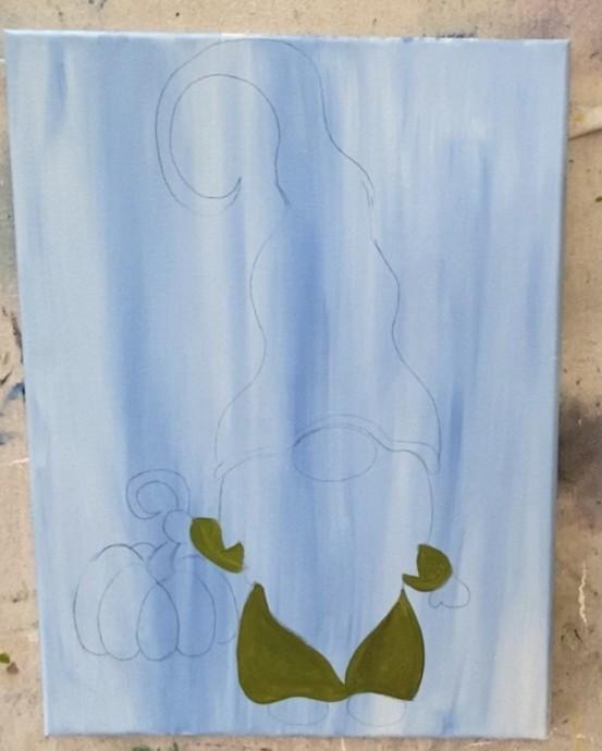 Рисуем осеннего гномика