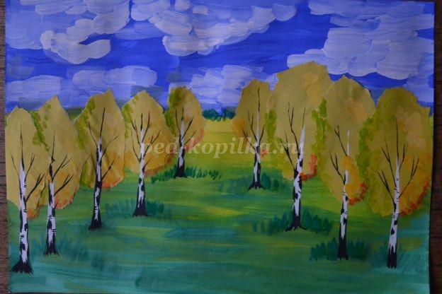 Рисуем осенний пейзаж с детьми