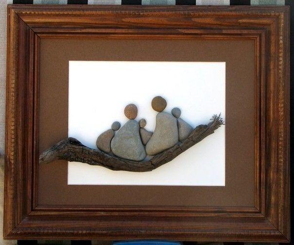 Идеи для творчества с детьми из морских камней
