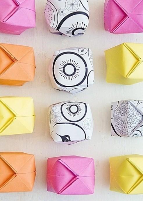 Яблоки в технике оригами
