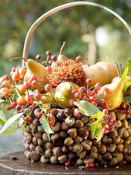 Осенние поделки из желудей и каштанов