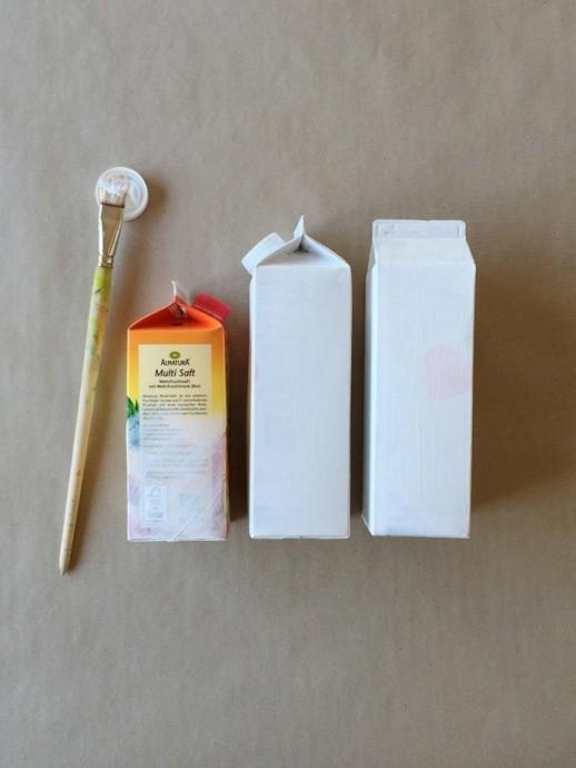 Скворечник из упаковки от молока
