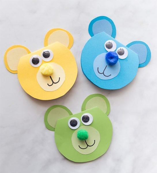 Детские открытки в виде мишек