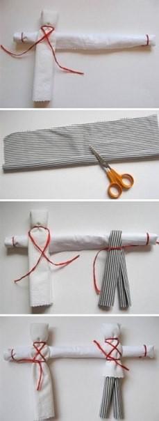 Куколки из лоскутов ткани