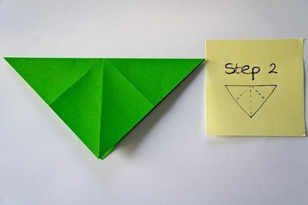Бумажная елочка-оригами 3