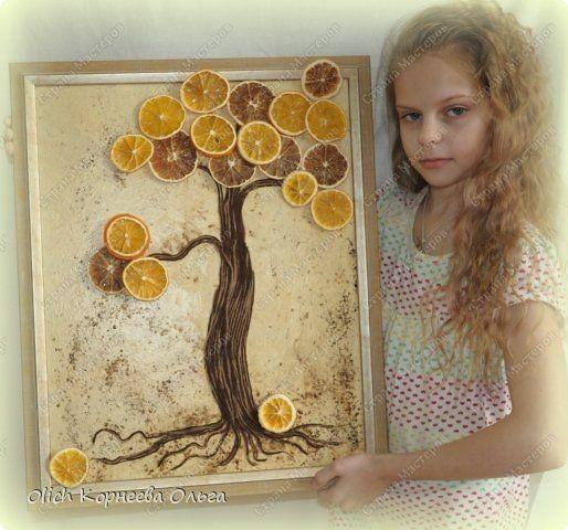 """Панно """"Апельсиновое дерево"""": мастер-класс"""