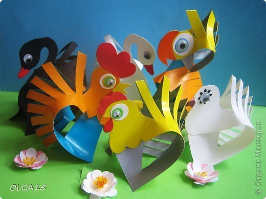 Милые птички из бумаги