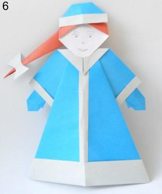 Снегурочка в технике оригами 0