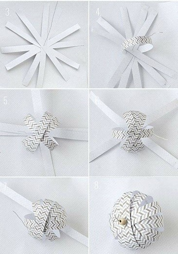 Ёлочные шары из бумаги 1