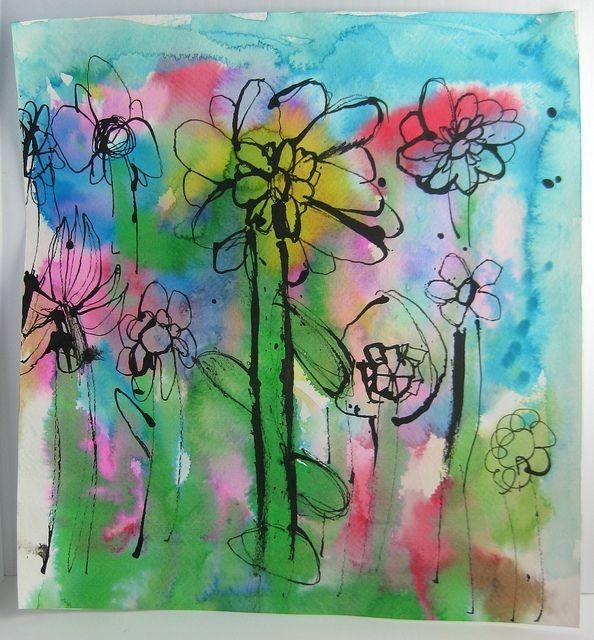 Акварельные цветочки