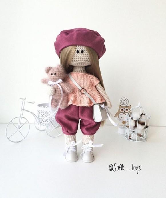 Кофточка с оборочкой для кукол и игрушек
