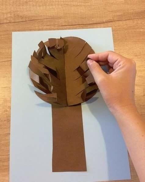 Объемное осеннее дерево