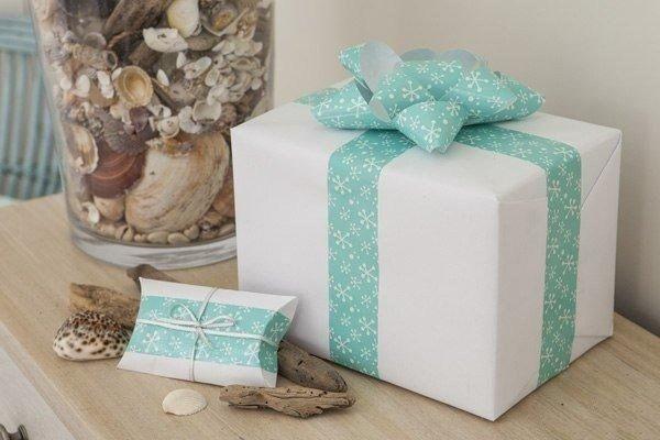 Объёмный бант для упаковки подарка другу 5