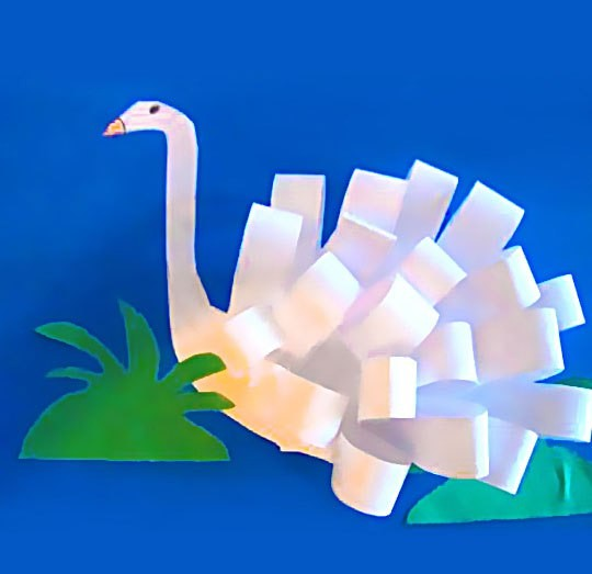 Объёмный бумажный лебедь