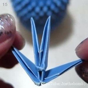 Совушка в технике модульное оригами 6