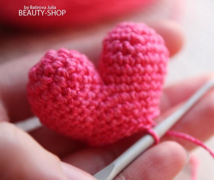 Вязаное сердце: мастер-класс