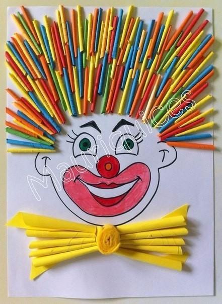Множество идей создания клоунов из бумаги с детьми