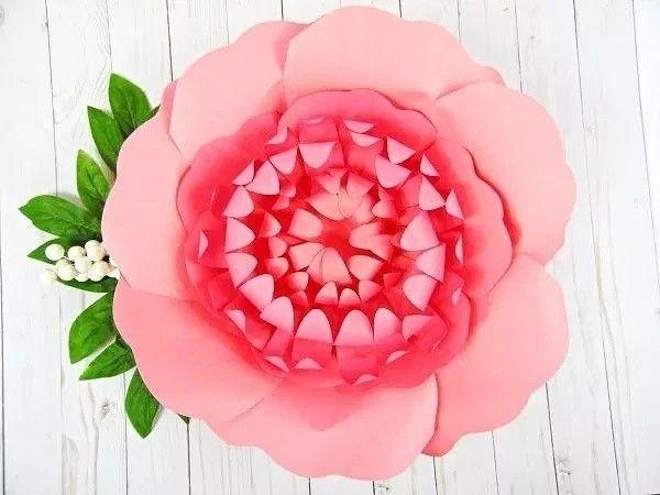 Хризантемы из бумаги 9