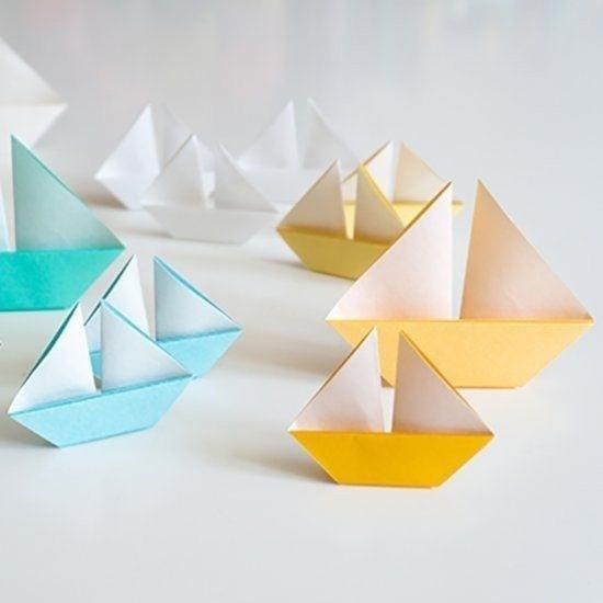 Парусник в технике оригами