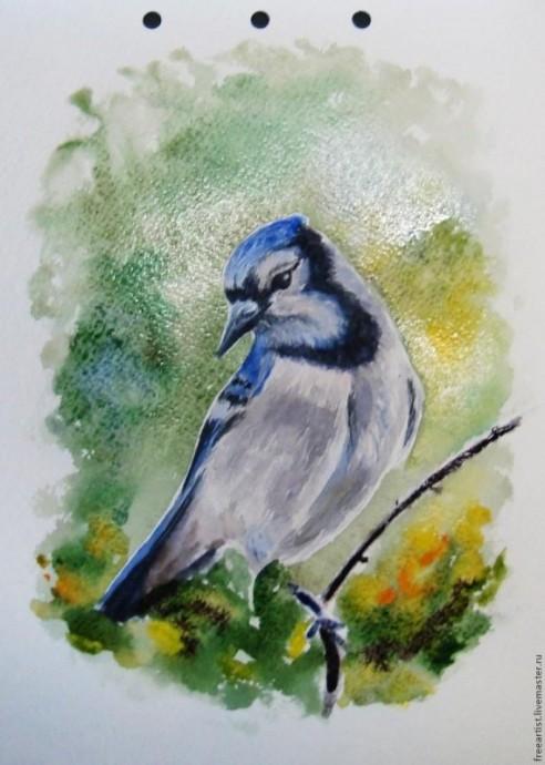Рисуем с детьми птичку поэтапно