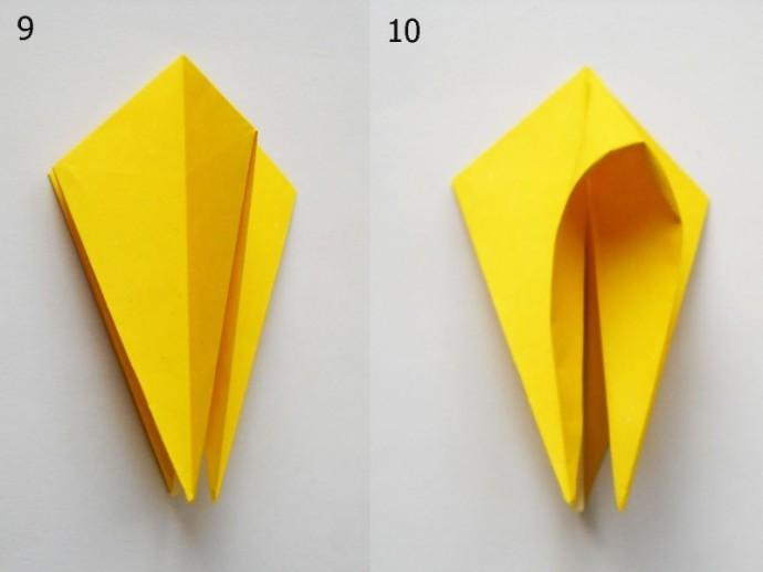 Сложные цветы в технике оригами