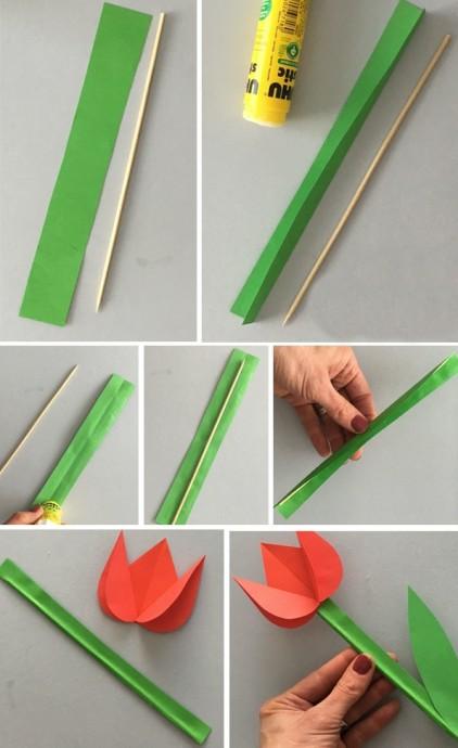 Бумажные тюльпаны 3