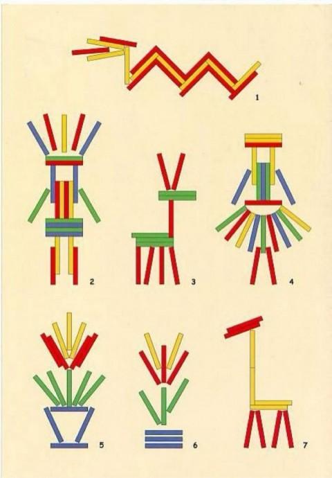 Рисуем с детьми счётными палочками