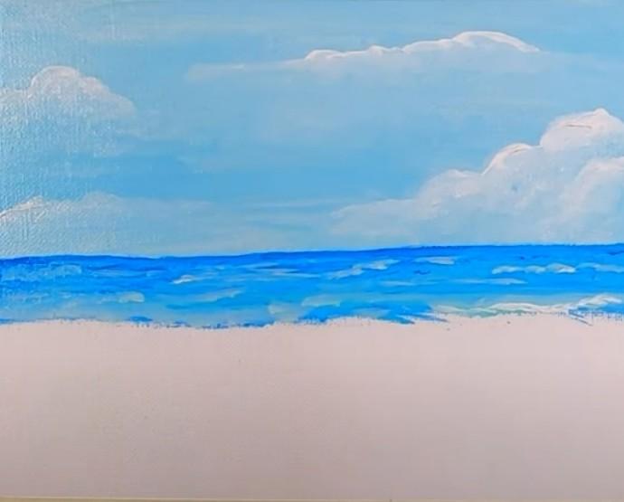 Рисуем морской пейзаж