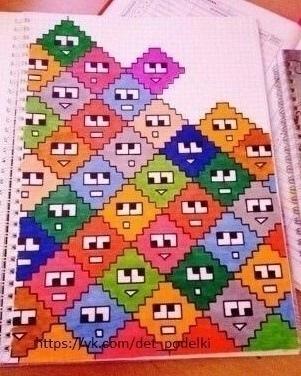 Идеи рисунков по клеточкам