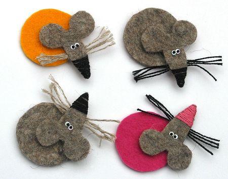Милые мышата-крысята из фетра