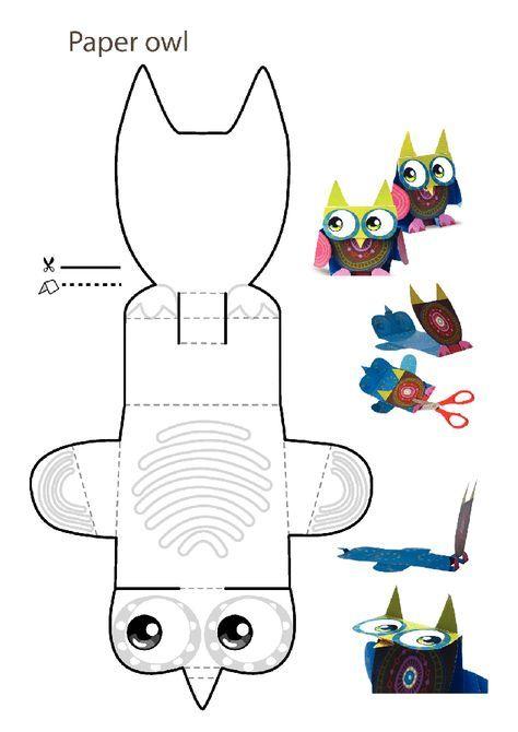 Поделки из бумаги и картона: совы