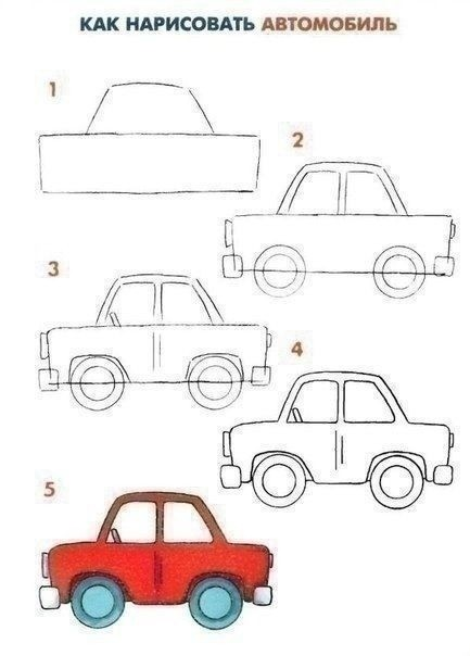 Рисуем с детьми транспорт
