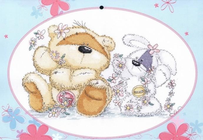 Вышивка: позитивные медвежата
