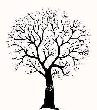 Рисуем листву дерева отпечатками пальцев 4