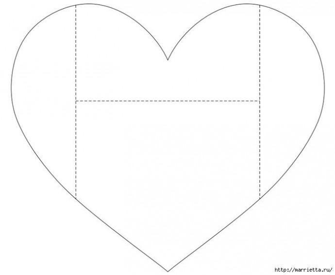 Аппликация из сердечек