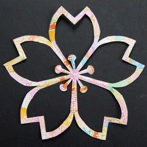 Цветы, которые вырезаются из бумаги