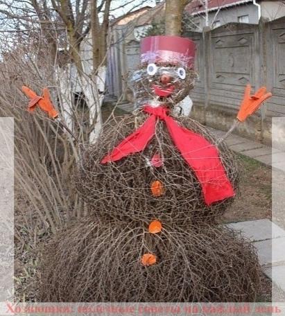 Как сделать с детьми снеговика, если нет снега 2