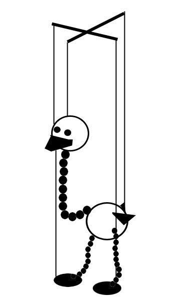 Марионетка страусенок