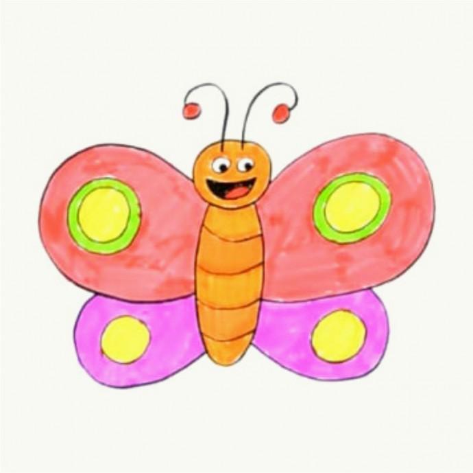 Рисуем с детьми бабочку