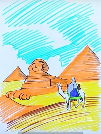 Рисуем с детьми пирамиды