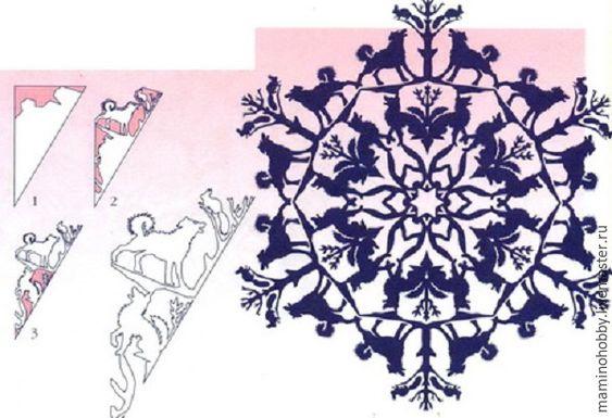 Схемы головокружительных снежинок 5