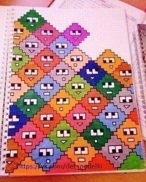 Идеи рисунков по клеточкам 1