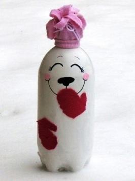 Белый медведь из бутылки